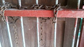 Chaînes en acier Photographie stock libre de droits