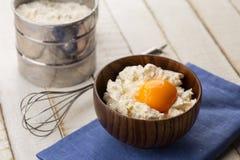 Chałupa ser, agg, mąka. Fotografia Royalty Free