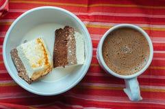 Chałupa sera kakao tort fotografia royalty free