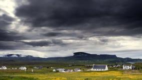 Chałupa w wyspie Skye czasu upływ zbiory