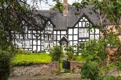 Chałupy w Malowniczym miasteczku Sandbach w Południowym Cheshire Anglia Zdjęcie Royalty Free