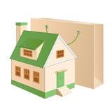 chałupy zieleni pakunek ilustracji