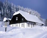 chałupy zima Zdjęcie Royalty Free