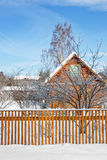 chałupy zima Zdjęcie Stock