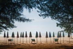 Cha-上午海滩, 免版税库存照片