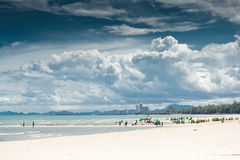 Cha-am Beach. Royalty Free Stock Image