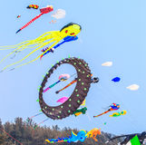CHA AM BEACH - MARCH 9th : 15th Thailand International Kite Festival Royalty Free Stock Images