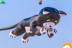 CHA AM BEACH - MARCH 9th : 15th Thailand International Kite Festival. In Petchaburi province of Thailand Stock Image