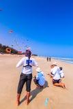 CHA AM BEACH - MARCH 9th : 15th Thailand International Kite Festival Royalty Free Stock Photo