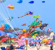 CHA AM BEACH - MARCH 9th : 15th Thailand International Kite Festival Royalty Free Stock Photography