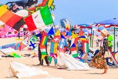 CHA AM BEACH - MARCH 9th : 15th Thailand International Kite Festival Stock Photos