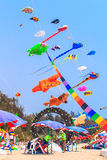 CHA AM BEACH - MARCH 9th : 15th Thailand International Kite Festival Stock Photo