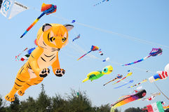 CHA- AM BEACH - MARCH 28: Thailand International Kite Festival Stock Image