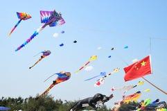 CHA- AM BEACH - MARCH 28: Thailand International Kite Festival Stock Photos