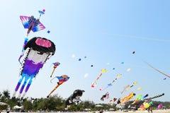 CHA- AM BEACH - MARCH 28: Thailand International Kite Festival Royalty Free Stock Photo