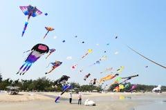 CHA- AM BEACH - MARCH 28: Thailand International Kite Festival. On March 28,2015 in Cha- am beach, Phetchaburi province, Thailand Stock Photo
