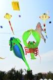 CHA- AM BEACH - MARCH 28: Thailand International Kite Festival. On March 28,2015 in Cha- am beach, Phetchaburi province, Thailand Royalty Free Stock Images