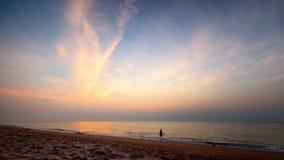 Cha Am Beach Sunrise, Thailand Royalty Free Stock Photos
