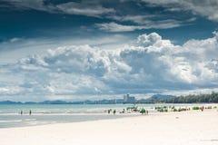 Cha-förmiddag strand. Royaltyfri Bild