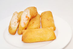 Cha Gio or Vietnamese spring roll on a white background Royalty Free Stock Photos