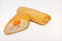 Cha Gio or Vietnamese spring roll on a white background Royalty Free Stock Photo