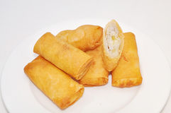 Cha Gio or Vietnamese spring roll on a white background Stock Images