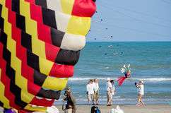 ​Cha-am International Kite Festival 2015 Thailand. Royalty Free Stock Images