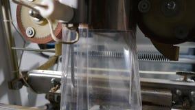 Cha?ne d'emballage des boulettes de viande Machine d'emballage alimentaire Industrie de viande Tir du traitement des denr?es alim banque de vidéos