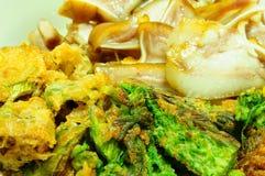 Cha-om khai or acacia omelette Thai food Stock Images