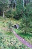 Chałupa w drewnach Zdjęcia Stock