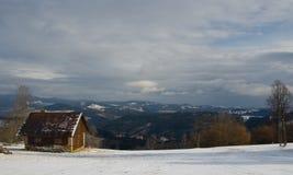 Chałupa w górach Zdjęcie Stock