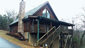 Chałupa w wsi Tennessee fotografia stock