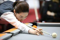 Cha Yu-Ram billiard player of South Korea Royalty Free Stock Image