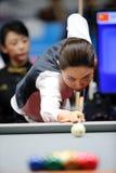 Cha Yu-Ram billiardspelare av Sydkorea Royaltyfri Bild