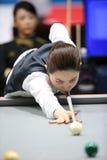 Cha Yu-Ram billiardspelare av Sydkorea Royaltyfria Foton
