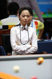 Cha Yu-Ram billiardspelare av Sydkorea Royaltyfri Fotografi