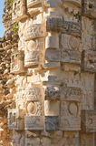 Chaac statue in Palace of the Masks in Kabah, Yucatan, Mexico. Chaac statue & x28;rain god& x29; in Codz Poop palace & x28;Palace of the Masks& x29; in Kabah Stock Photography