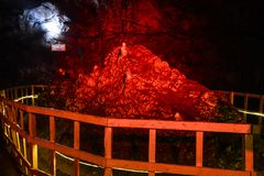 Chaaghi bergmonument inom den Khewra minen Royaltyfria Foton