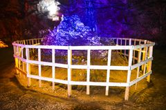 Chaaghi mountain monument inside Khewra mine royalty free stock images