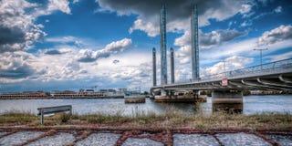Chaban-Delmas Bridge in Bordeaux, France royalty free stock photo