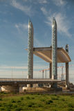 Chaban Delmas Bridge in Bordeaux (France), the tallest and longest vertical-lift bridge in Europe Stock Photos