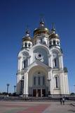 Chabarovsk, fiume Amur, Russia Immagine Stock