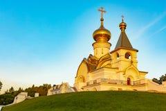 Chabarovsk, Russia - 27 agosto 2018: Chiesa della st Serafino di Sarov fotografia stock