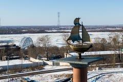 Chabarowsk, Russland am 22. November 2018 Stella Khabarovsk für den Eingang zur Stadt Ferner Osten, Russland lizenzfreies stockbild