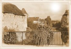 Chablis Bourgogne, Frankrike royaltyfria foton