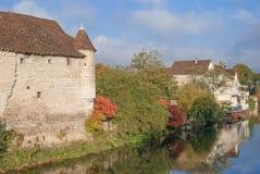 Chablis Burgundy, Burgund Royaltyfria Bilder
