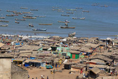 Chabola de Jamestown en la playa Fotos de archivo libres de regalías