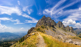 Chabrieres Needles of the Ecrins National Park in summer. Alps, France Stock Image