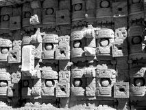 Chac masks Kabah Mayan Ruins Royalty Free Stock Photos