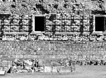 Chac masks Kabah Mayan Ruins Royalty Free Stock Images